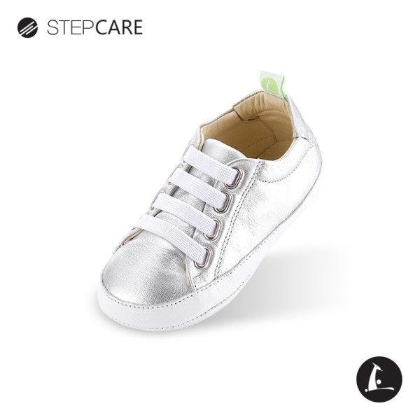 [팁토이조이] 레더리-실버 걸음마신발 유아신발
