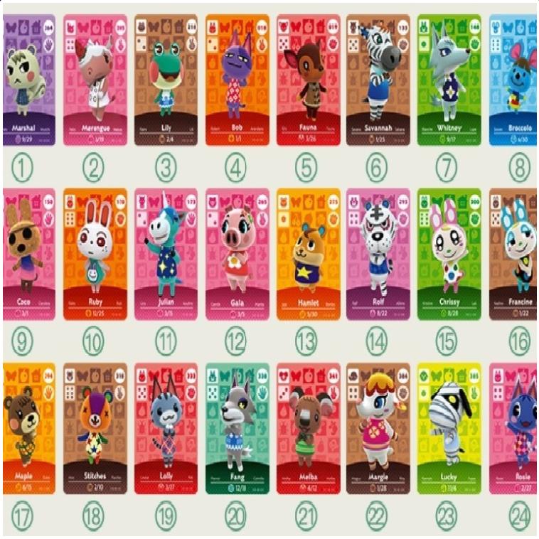 호환품 미니카드 모여봐요 동물의 숲 아미보 카드 24종 72종 세트, 1개, 옵션 1 스탠다드 24종 카드세트 (모동숲 호환)