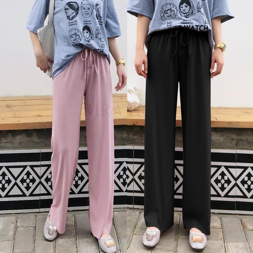 kirahosi 퀄리티 6 여성 여름 얇은 와이드 배기 팬츠 운동 바지 3 Q97q8i