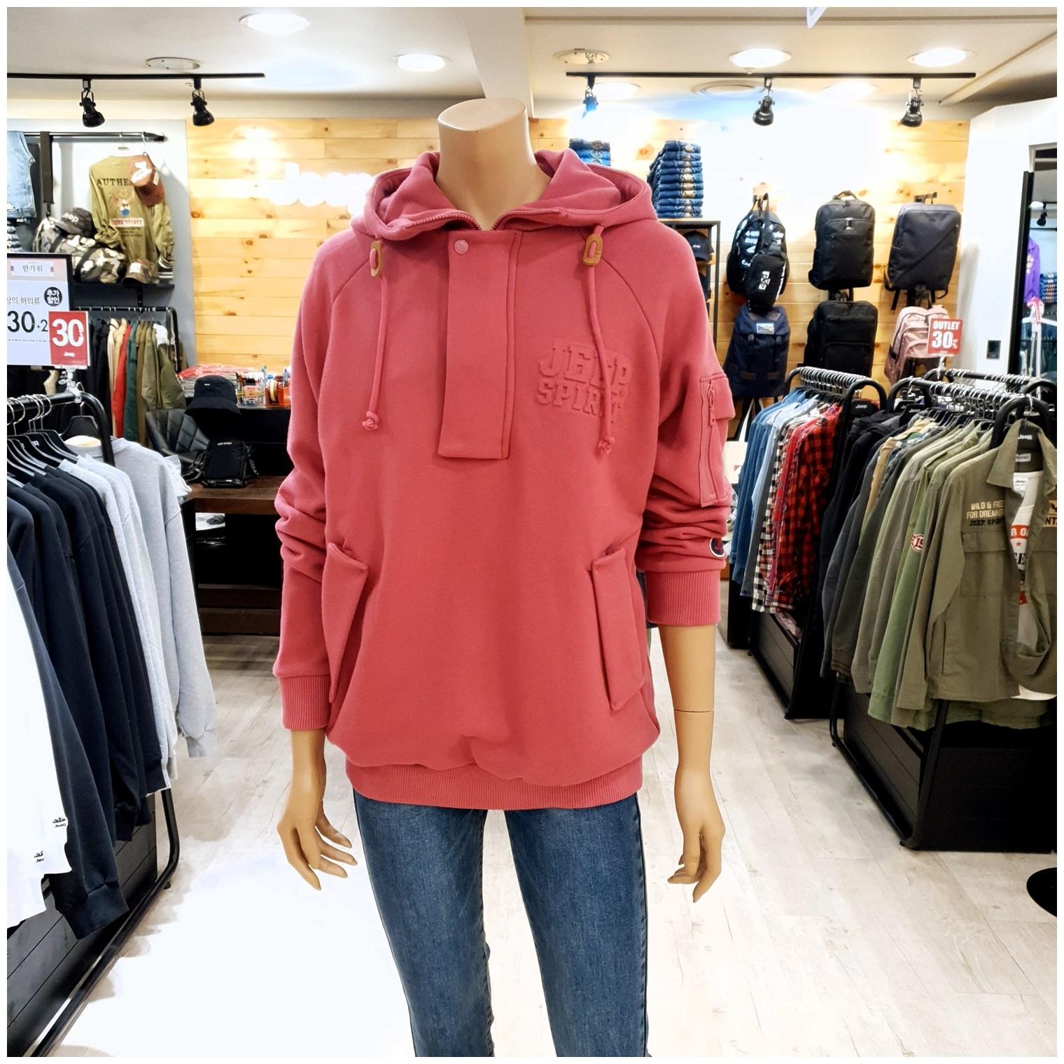 지프 [NC불광점] 이월상품 70%특가할인!! 데일리로 캐주얼하고 멋스럽게 입기 좋은 아노락 엠보로고 후드티!!