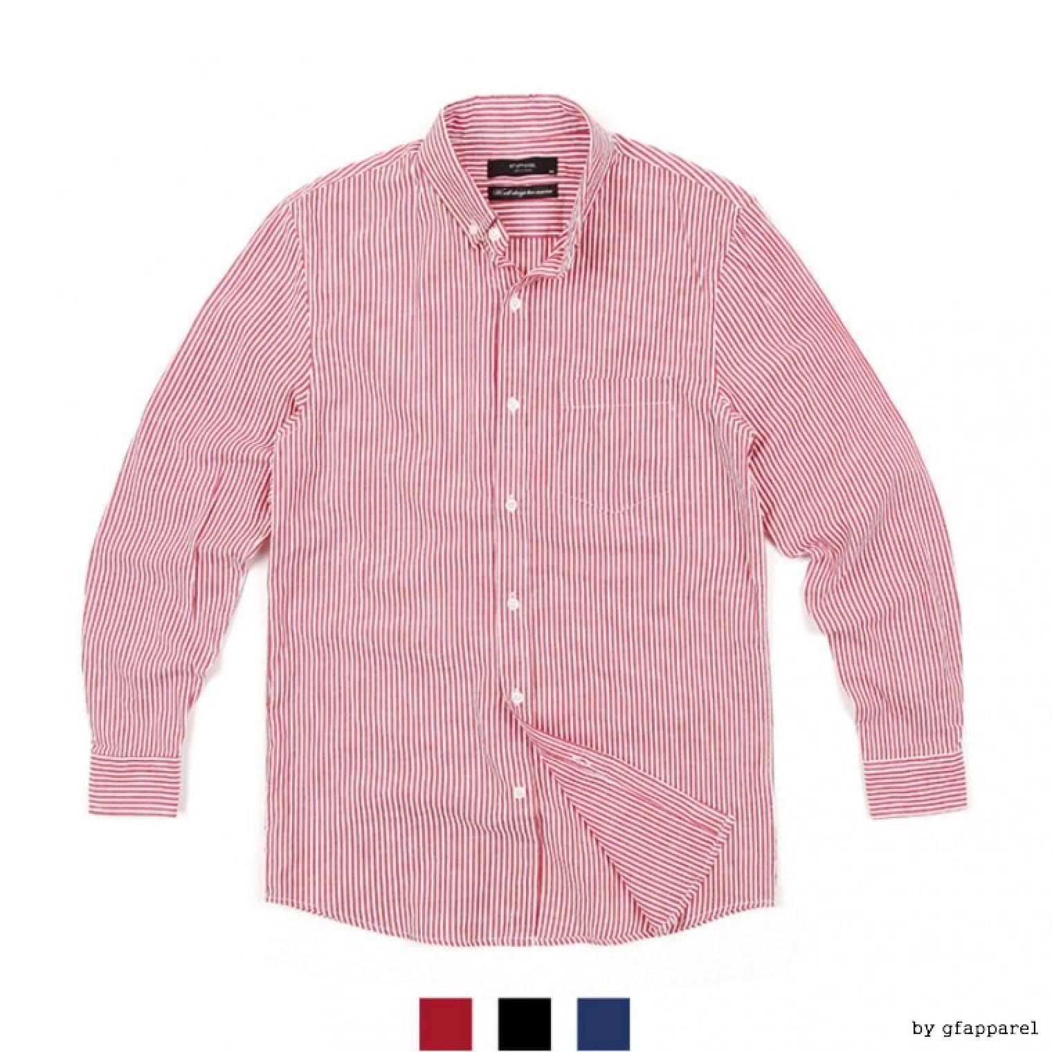 아인스 포켓 스트라이프 남자 셔츠 여성크로스백