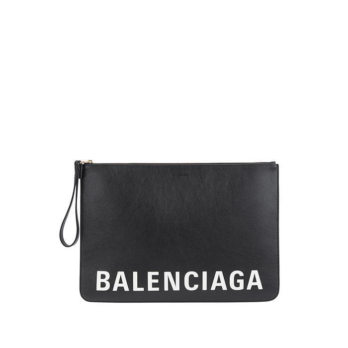 [Balenciaga]20FW 발렌시아가 로고 스트랩 클러치 630626 1IZKM 1090 아이직고