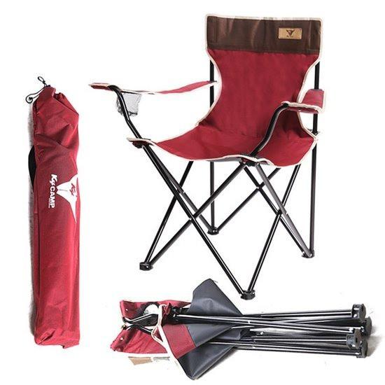 K4camp 손잡이 접이식 캠핑의자-대형 릴렉스체어