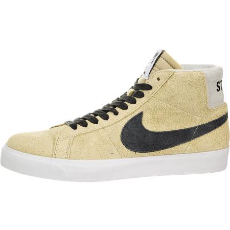 남성 Nike SB Zoom Blazer Mid QS (Stussy) Midwest Gold Black
