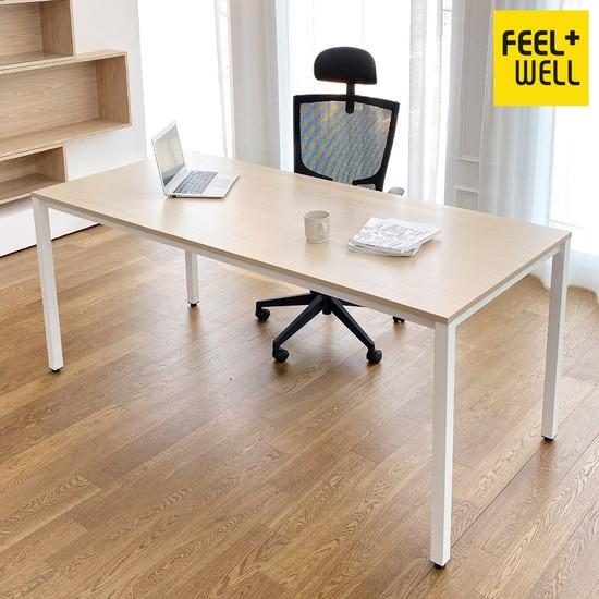 DK9799 스틸프레임 심플 책상 테이블 1800x800, 메이플상판