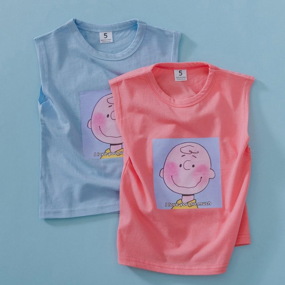 발그레 찰리 나시 - 9호 / 유아 아동 여아 남아 여름 민소매 티셔츠