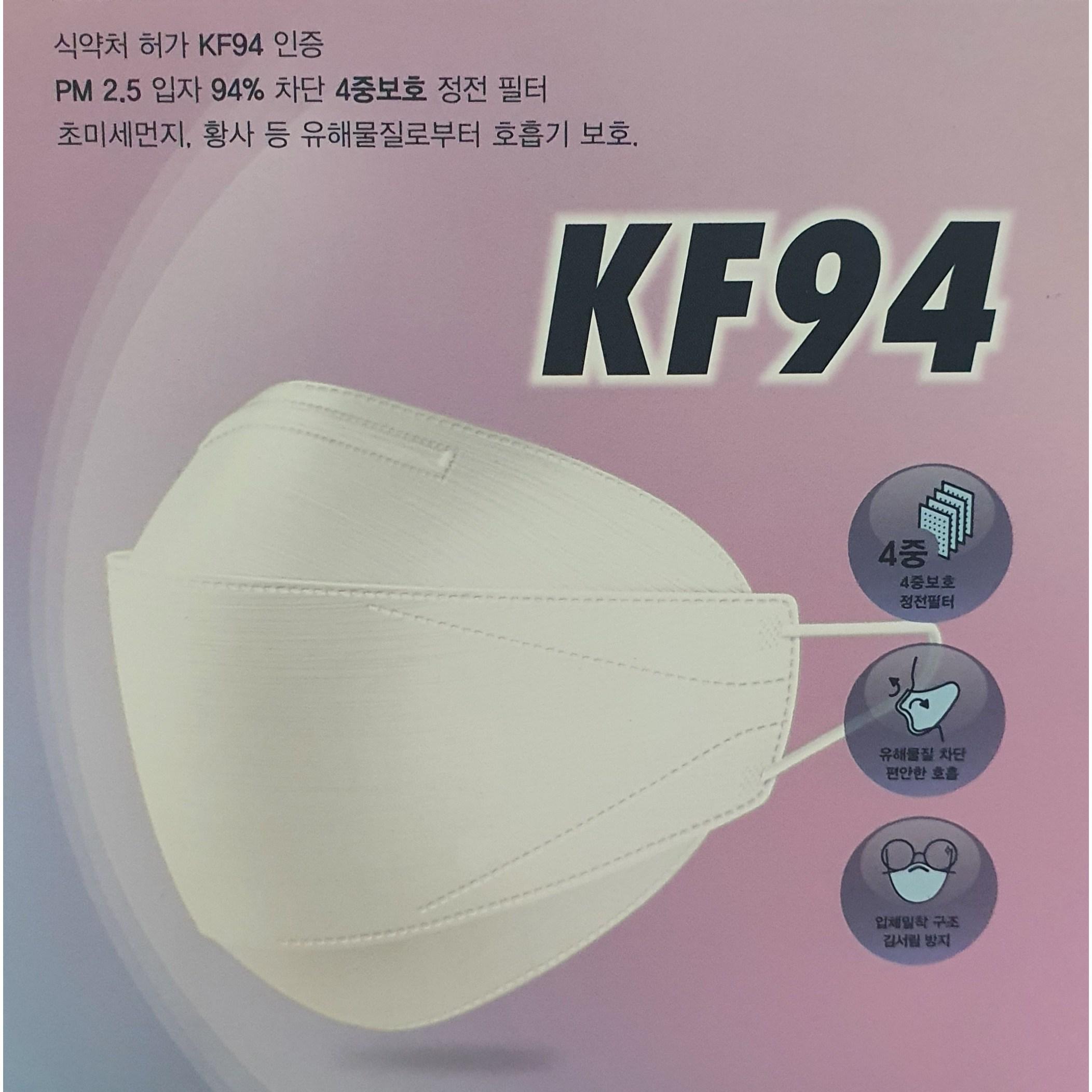 아우라이프 초미세먼지.황사.방역용 마스크KF94, 25개