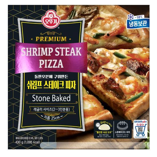 [오뚜기] 쉬림프&스테이크 피자 430g, 상세 설명 참조