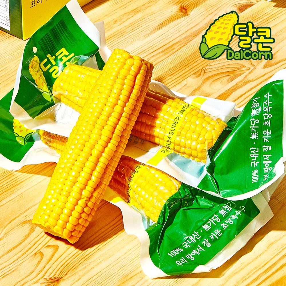 푸르젠 바로 먹는 특품 진공 초당옥수수 (개당 15~18cm), 4개입