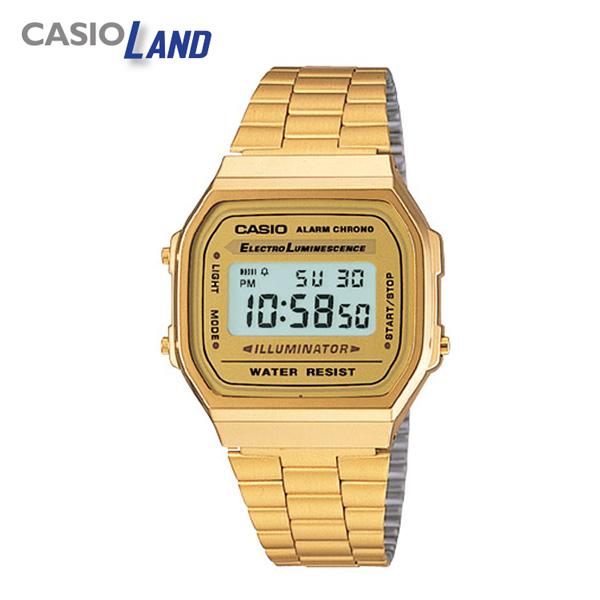 카시오 CASIO 메탈 전자 시계 A-168WG-9WDF