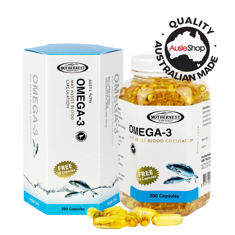 마더네스트 호주직구 오메가 3 300정 (사은품증정) 혈액순환 면역력 건강식품, 1개