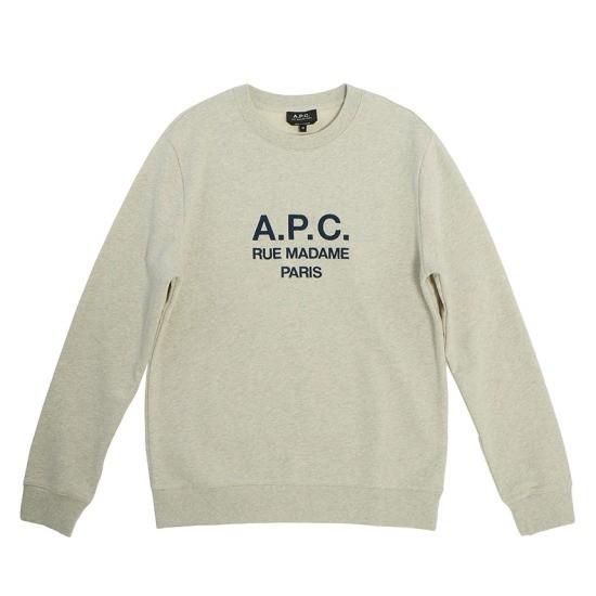 A.P.C RUFUS 남자 맨투맨 티셔츠 H27500 PAA ECRU CHINE