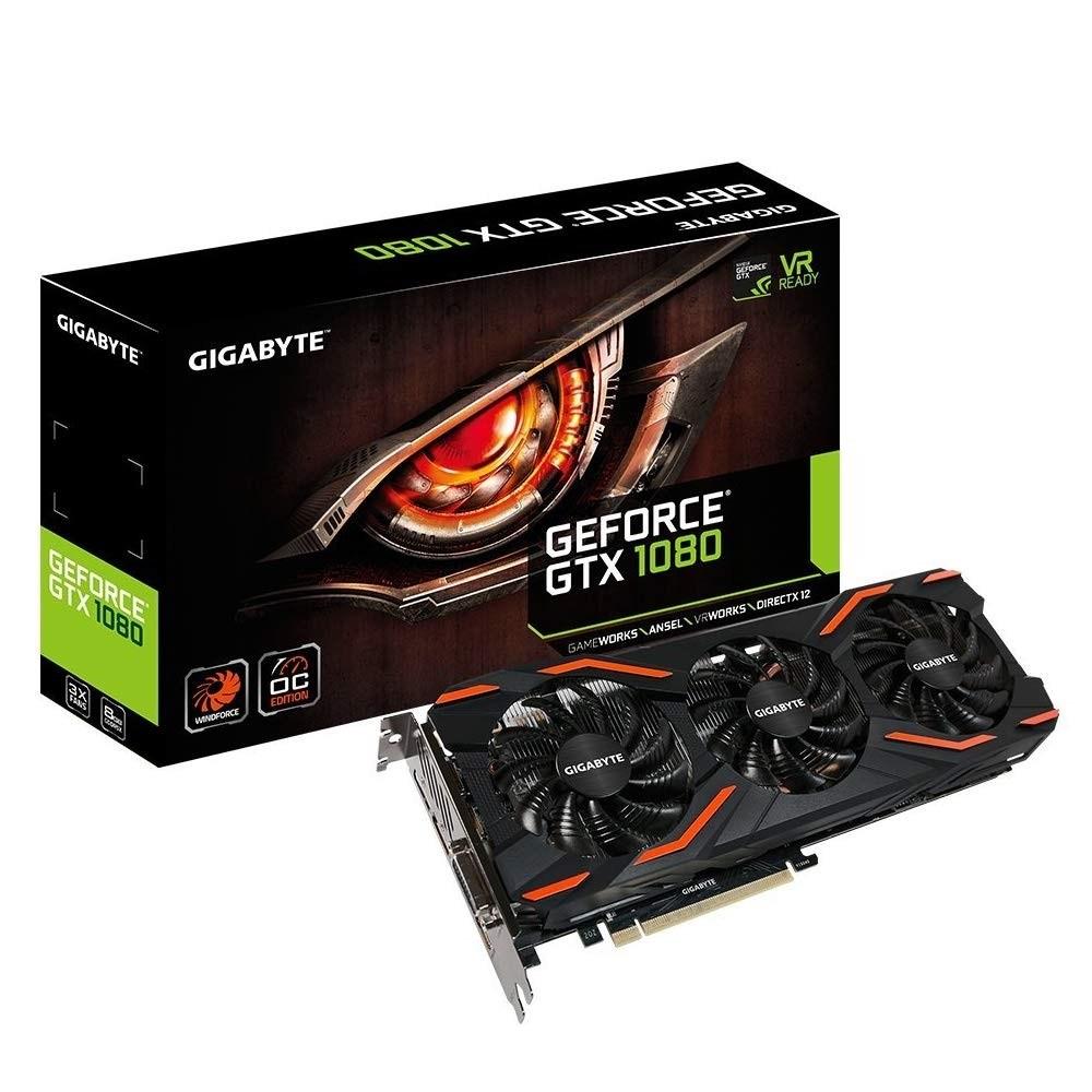 GIGABYTE GeForce GTX 1080 Windforce OC 8GB GDDR5X (GV-N1080WF3OC-8GD) 그래픽카드, GV-N1080WF3OC-8GD