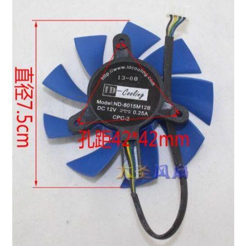[해외] 그래픽 카드 용 GTX760 ND8015M12B 12 V 0.25A 4 선 라디에이터 팬, 상세내용표시