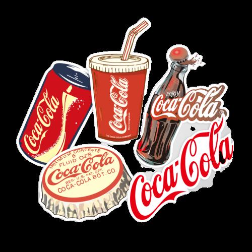 코카콜라 디자인 방수 노트북 캐리어 얼룩가림 스티커, 단품, 단품