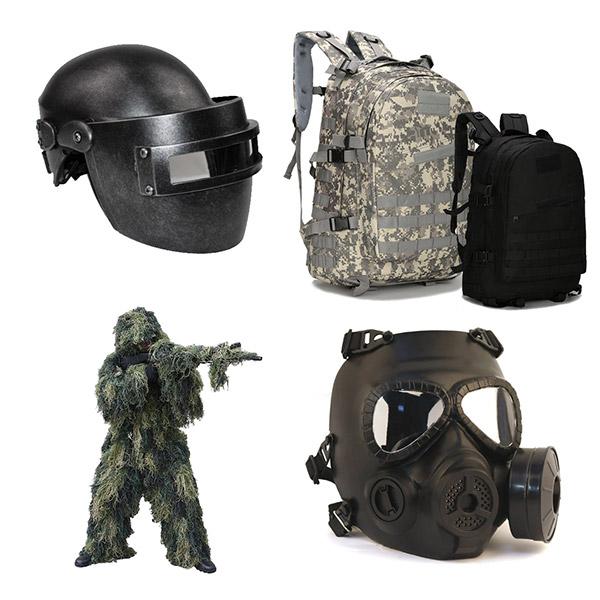 이츠라이프 3뚝 헬멧 군인가방 3렙 백팩 길리슈트 방독면, 3뚝 헬멧 메탈-소형