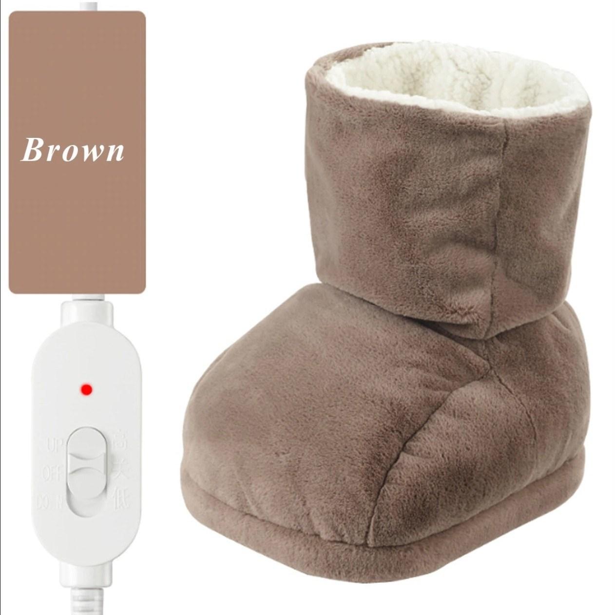 A9 발온열기 풋워머 발찜질기 전기 사무실 발난로, Brown