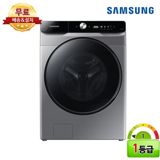 [K쇼핑]삼성전자 그랑데 AI 세탁기 1등급 21kg WF21T6300KP 삼성 직설치, 단일상품