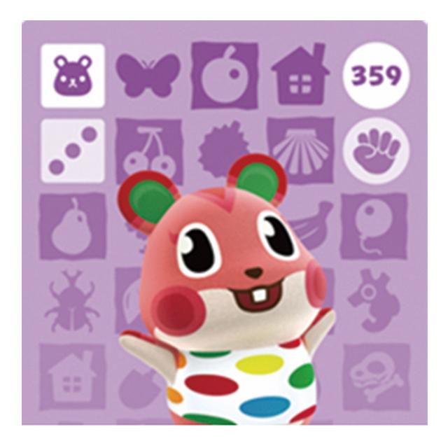 [호환품] 닌텐도 스위치 동물의숲 인기주민 아미보 카드 칩, 1개, 애플
