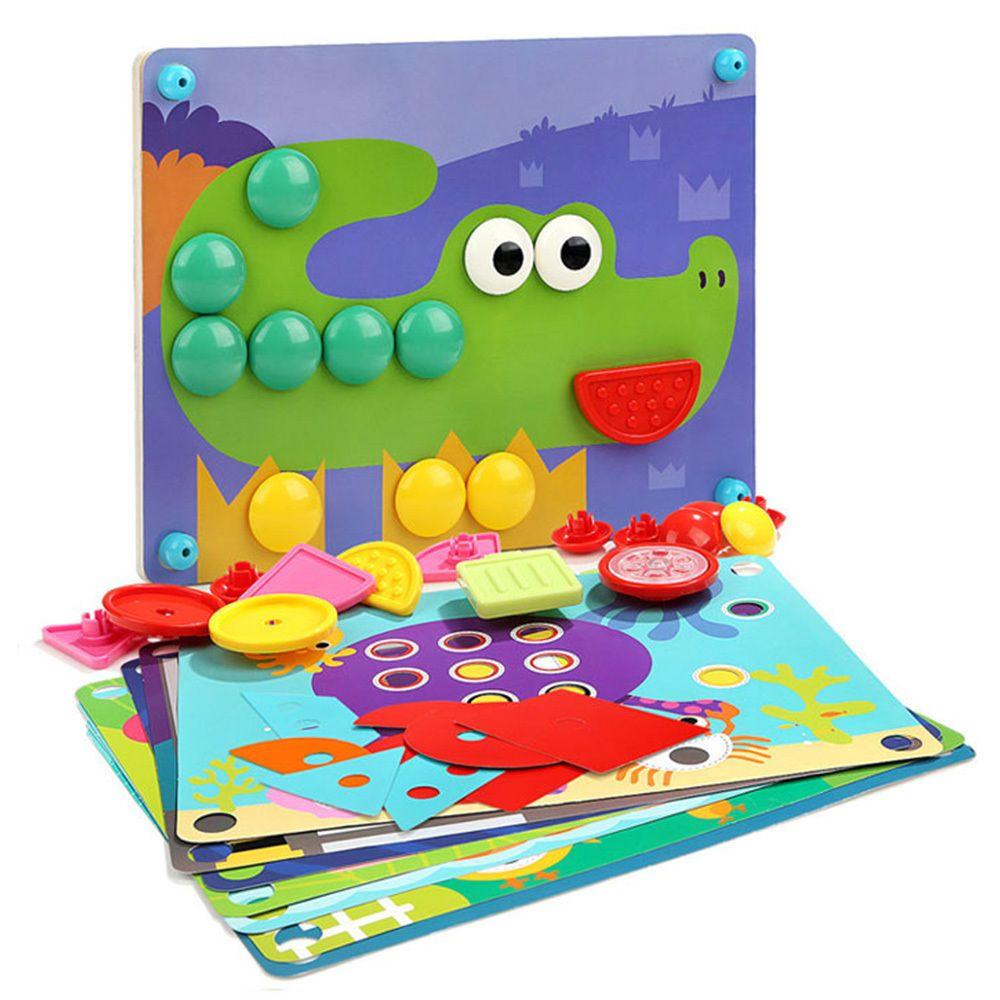 아기장난감 원목퍼즐 꼭지퍼즐 모양 18개월, PICK 1
