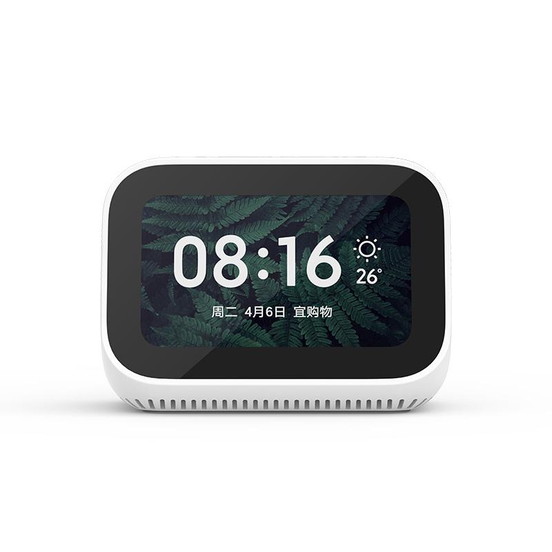 샤오미 터치 스피커 디지털 비디오보기 음악듣기 알람 미세먼지측정 초인종연계가능, 오디오 스피커