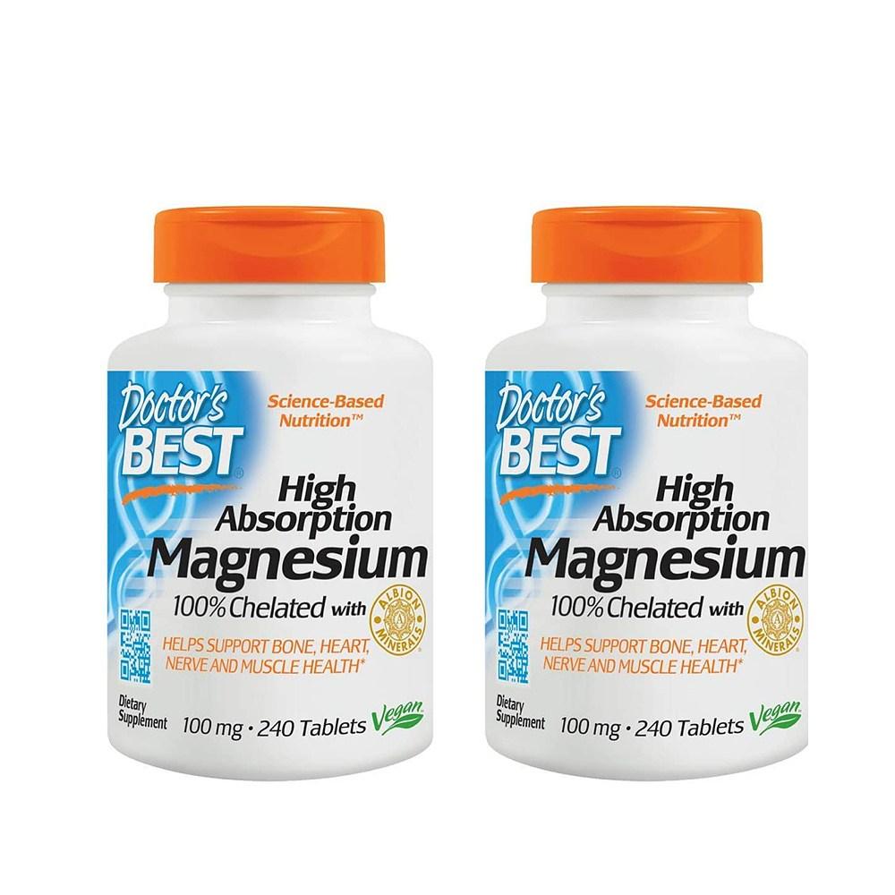 닥터스베스트 킬레이트 마그네슘 영양 보충제 240정x2, 1개, 1