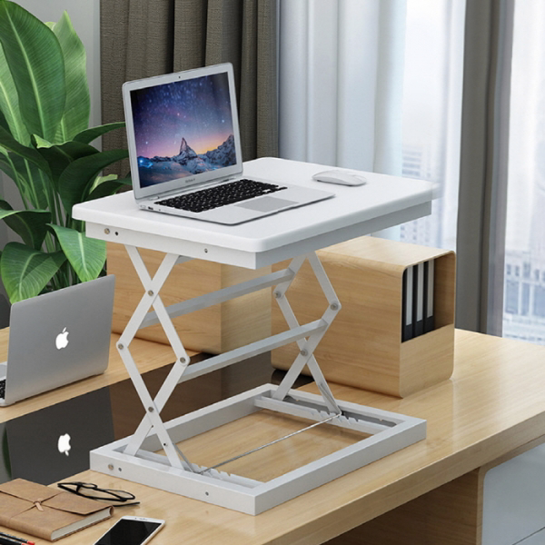 라이프스토리 스탠딩테이블 LS102 화이트A 높이조절 책상, 단일상품