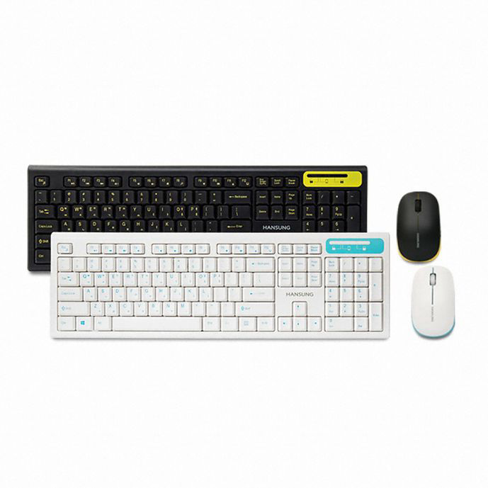 도매빅뱅 무선 데스크탑 세트 블랙 HKM660WL 게이밍키보드마우스세트/무선키보드마우스세트/블루투스키보드마우스세트/멤브레인키보드/유선키보드마우스세트/게이밍컴퓨터세트, 단일 색상, 단일 모델명/품번