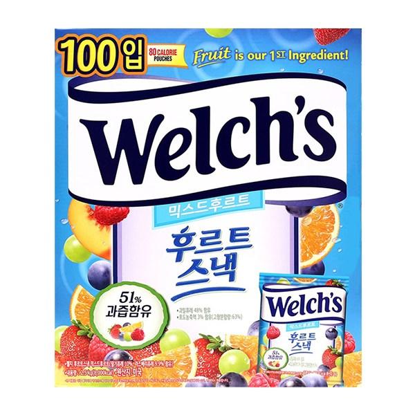 웰치스 믹스드 후르트 스낵 젤리 2.5kg (25g x 100봉) 5가지 과일맛
