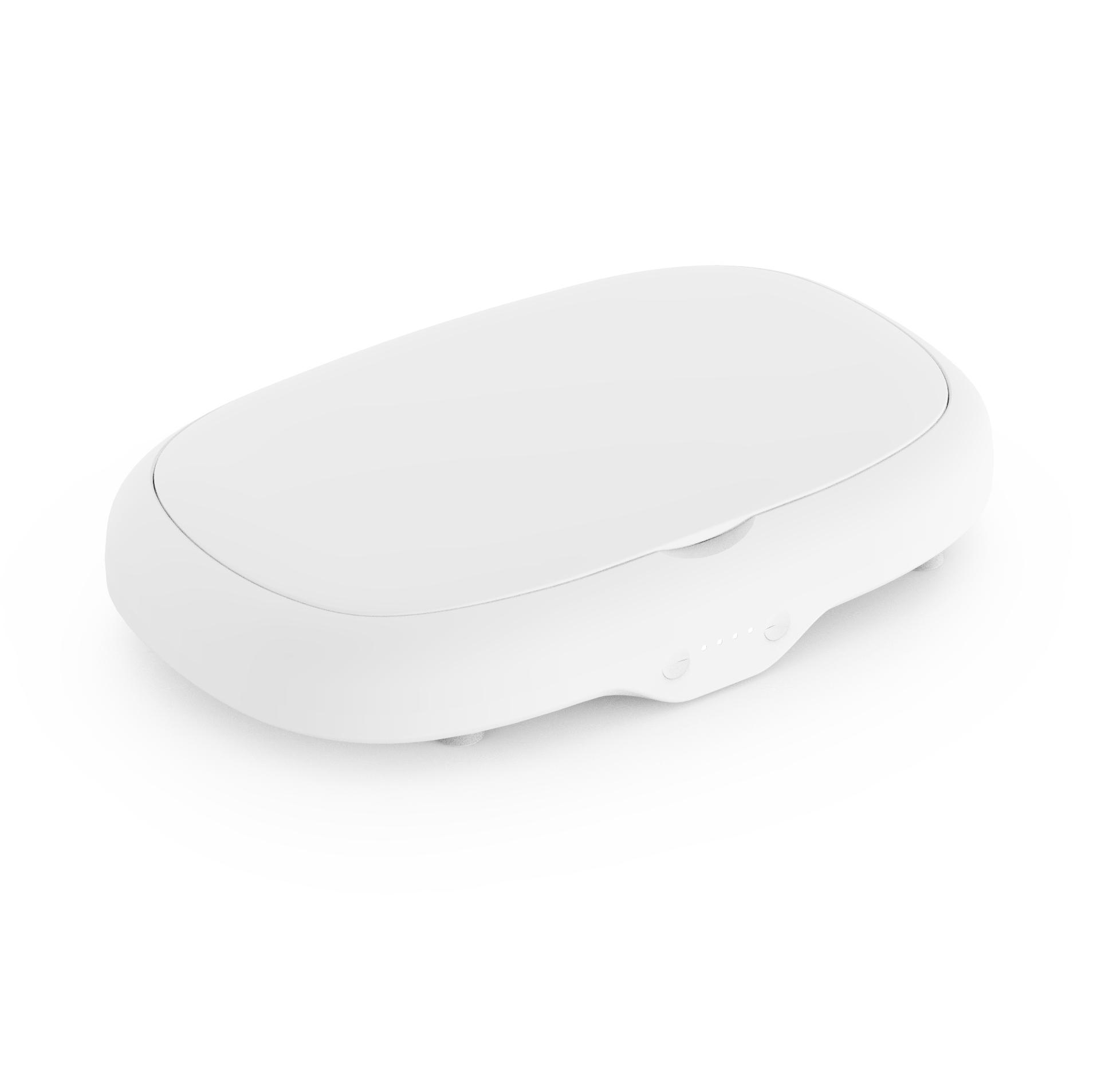 uv sterilizer 자외선 살균기 소독기 멸균기 자외선 마스크 소독 케이스 소형 휴대전화 안경 다기능 무선충전 휴대용 uv 오존 살균기, 1.흰색