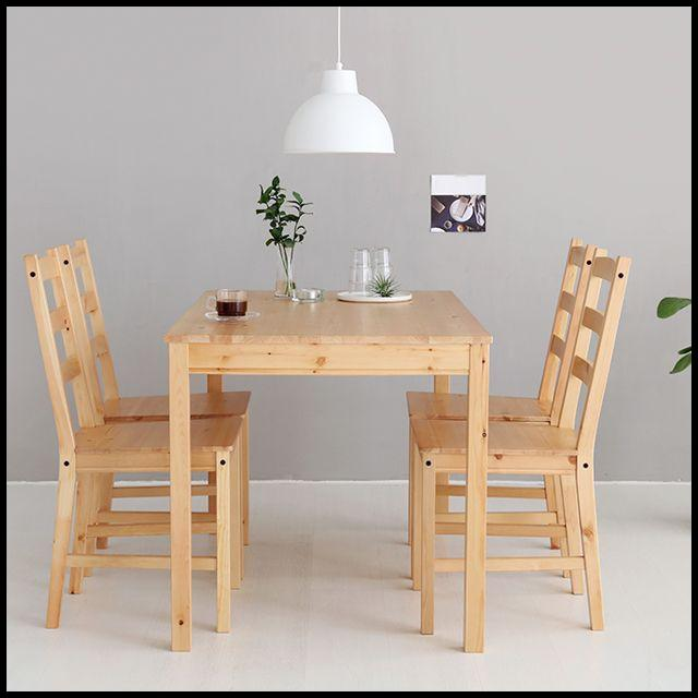OT HOR 인테리어 소나무 내추럴 4인원목식탁세트 테이블 식탁의자 가구 셀프인테리어, OWTD 본상품선택