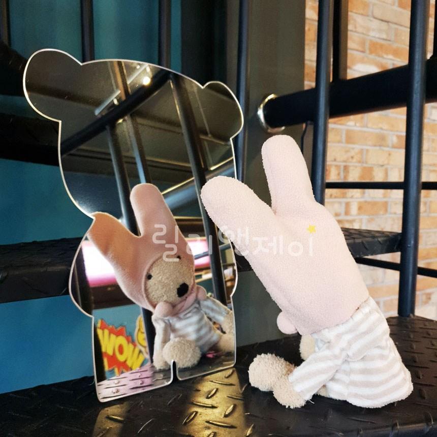 릴리앤제이 욕실 아크릴 거울 어린이 유아 화장실 벽 안전거울 카페 디자인 인테리어, 4.감성 팬더