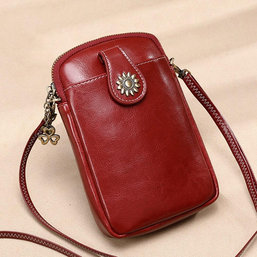 욜업 여성 가방 가죽 반지갑 핸드폰가방