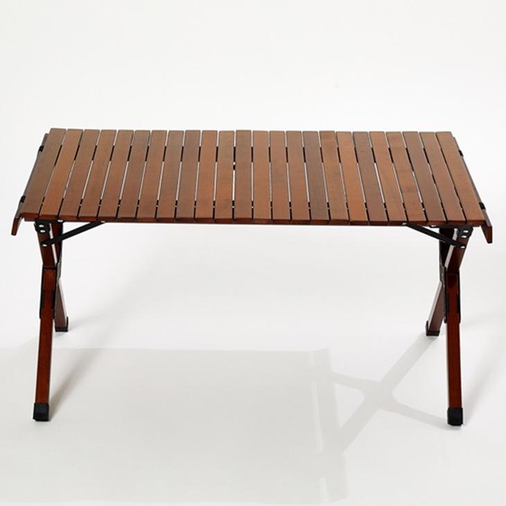 레드코코 우드 테이블 캠핑테이블 롤테이블 L XL, 브라운