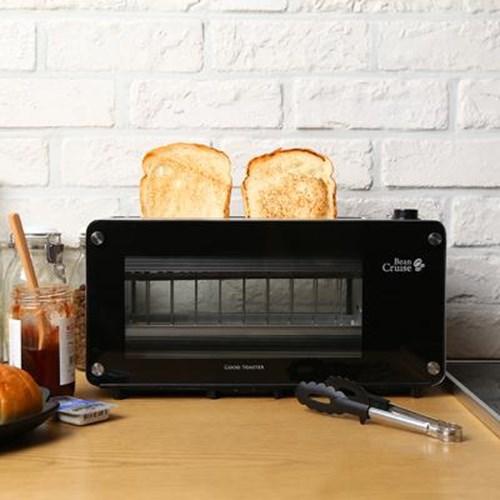 빈크루즈 가정용 토스터기 굿 토스터 BCT-8400 (롱슬롯/유리/자동레버)