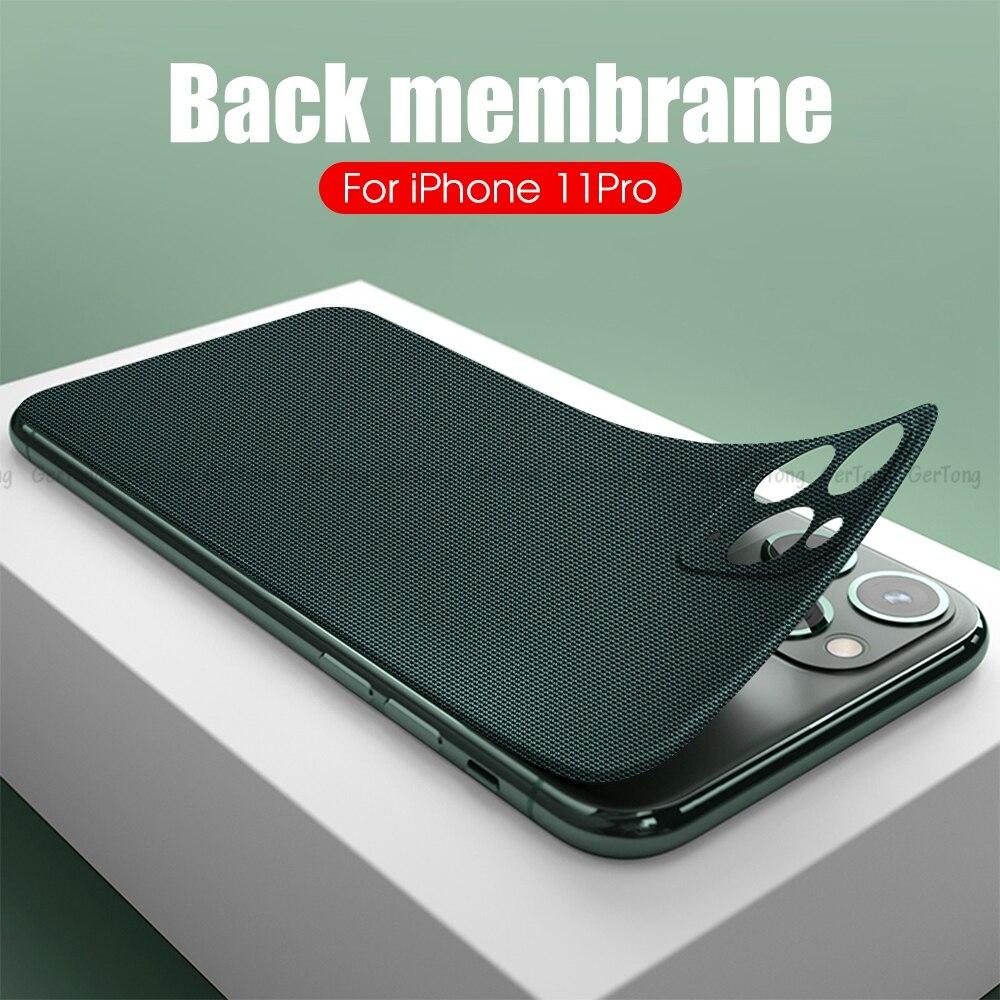 3d 커버 전화 보호 아이폰 11 11pro 탄소 섬유 다채로운 뒤로 12 pro max 미니 12pro, 02B, For iphone 11 (POP 4800049915)
