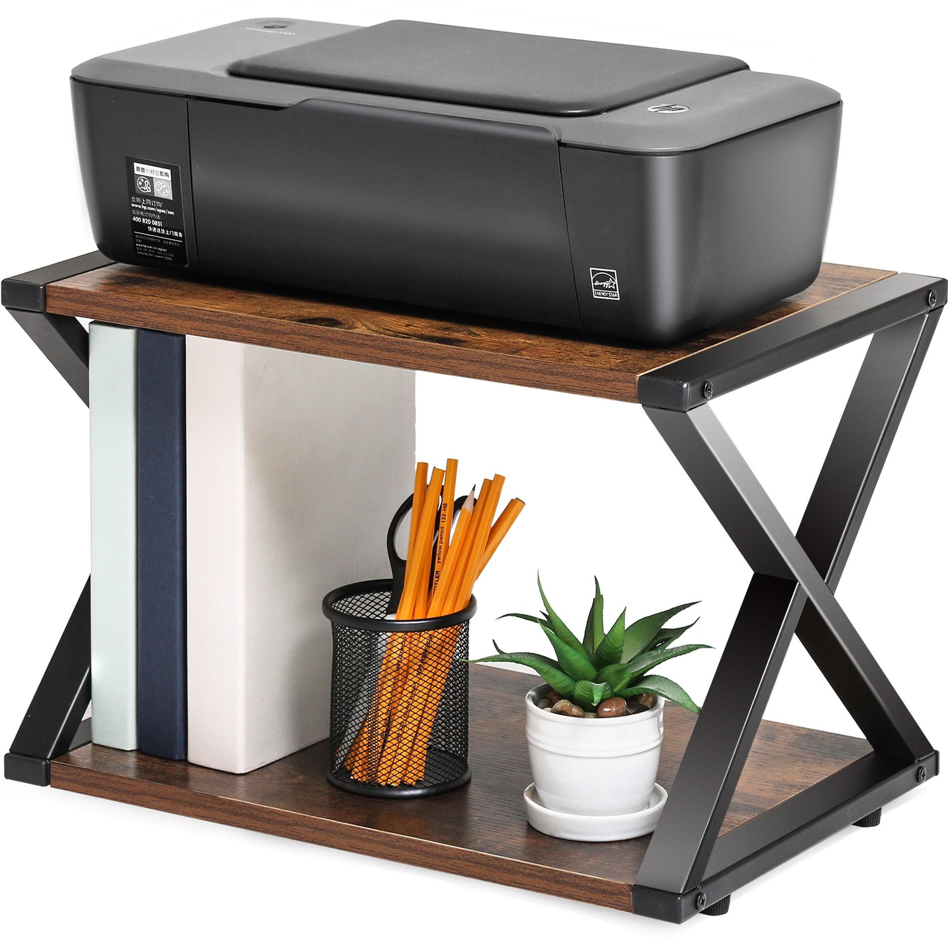 [국내 배송] FITUEYES 프린터선반 프린터받침 프린터스탠드, 갈색 DO204501WG