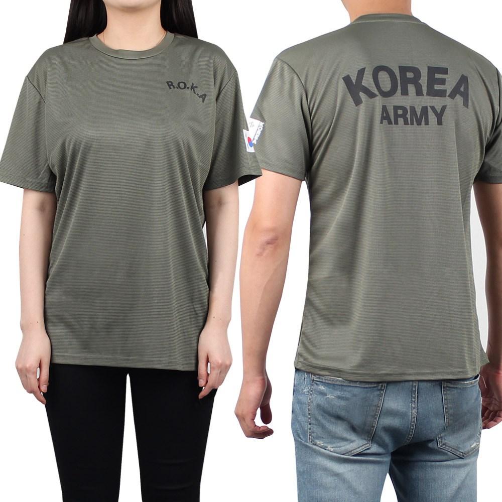 후아미 쿨드라이 ROKA 카키 반팔티 로카티 군인티셔츠 군용티셔츠 반팔 티셔츠