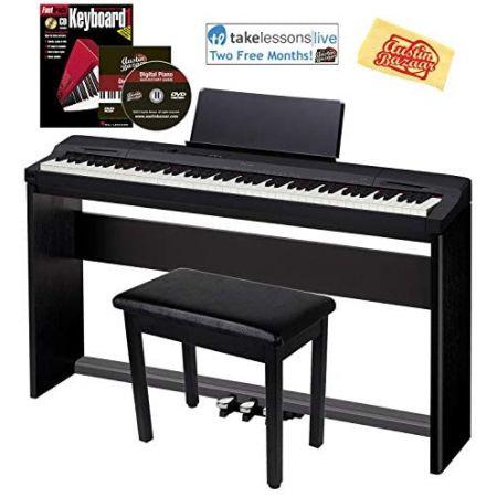 Casio Privia PX-160 Digital Piano - Black Bundle with CS-67 Stand SP-33 Pedal Furniture Bench Ins, 상세 설명 참조0