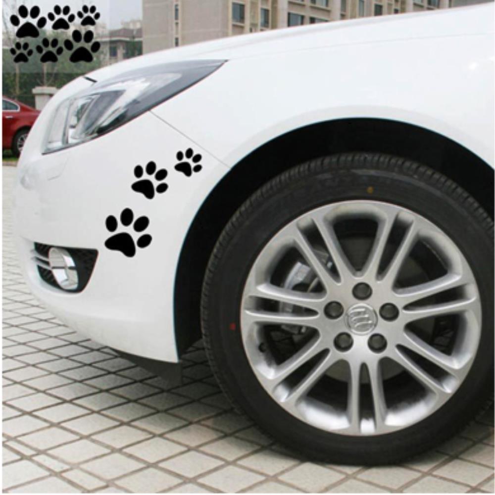 팬더 발자국 귀여운 자동차 스티커 차량데코스티커, 1개, 화이트
