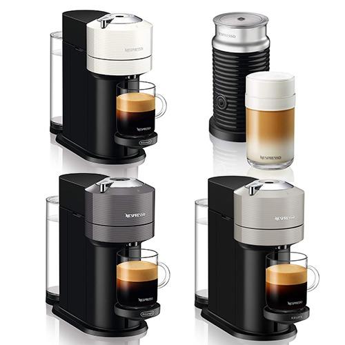 네스프레소 버츄오 넥스트 드롱기 크룹스 ENV120 캡슐 커피머신 에어로치노 세트, 04.버츄오 넥스트 ENV120 라이트그레이