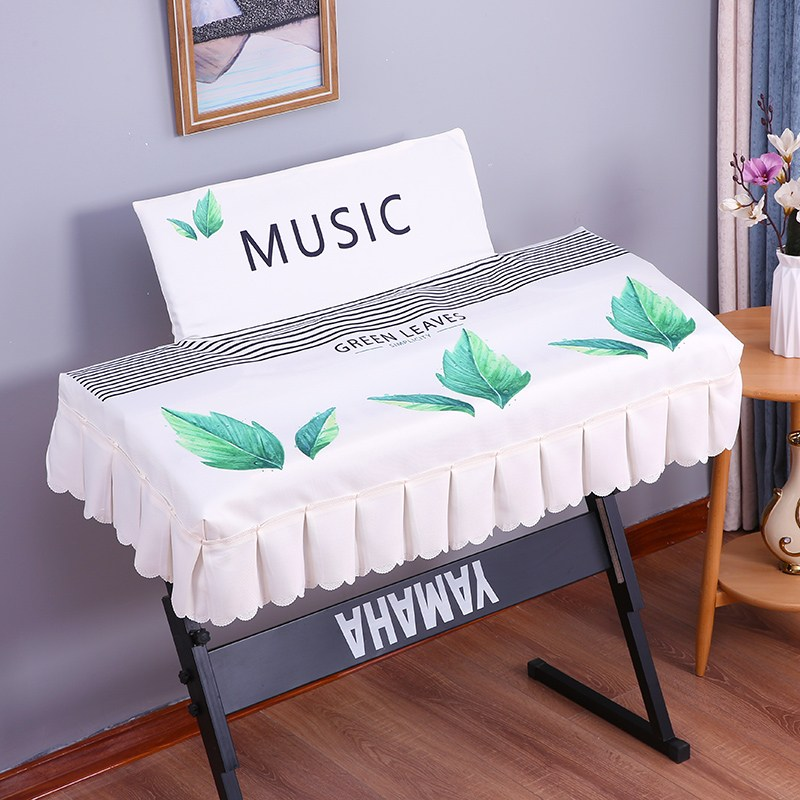디지털피아노 프린팅 전자피아노 커버전기 피아노 88건 방진커버 61건, C02-PX-S1000BK(미포함 커버), T06-스트라이프 푸른잎 전자피아노 후드