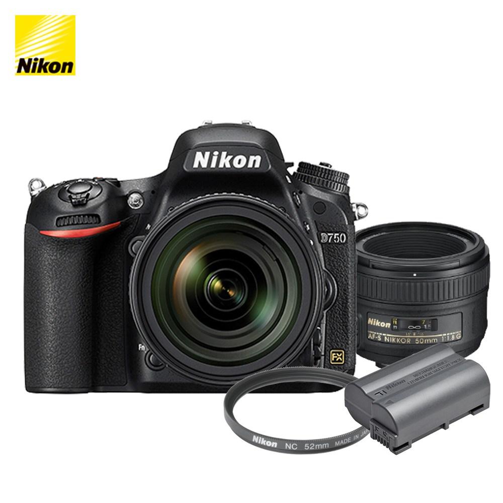 니콘 D750 DSLR, 니콘 D750 + AF-S 50mm f/1.8G + EN-EL15b + NC 52