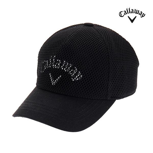 [캘러웨이]여성 메쉬 오버레이 반캡 모자 CWACI6119-199_G, 0FR, BLACK