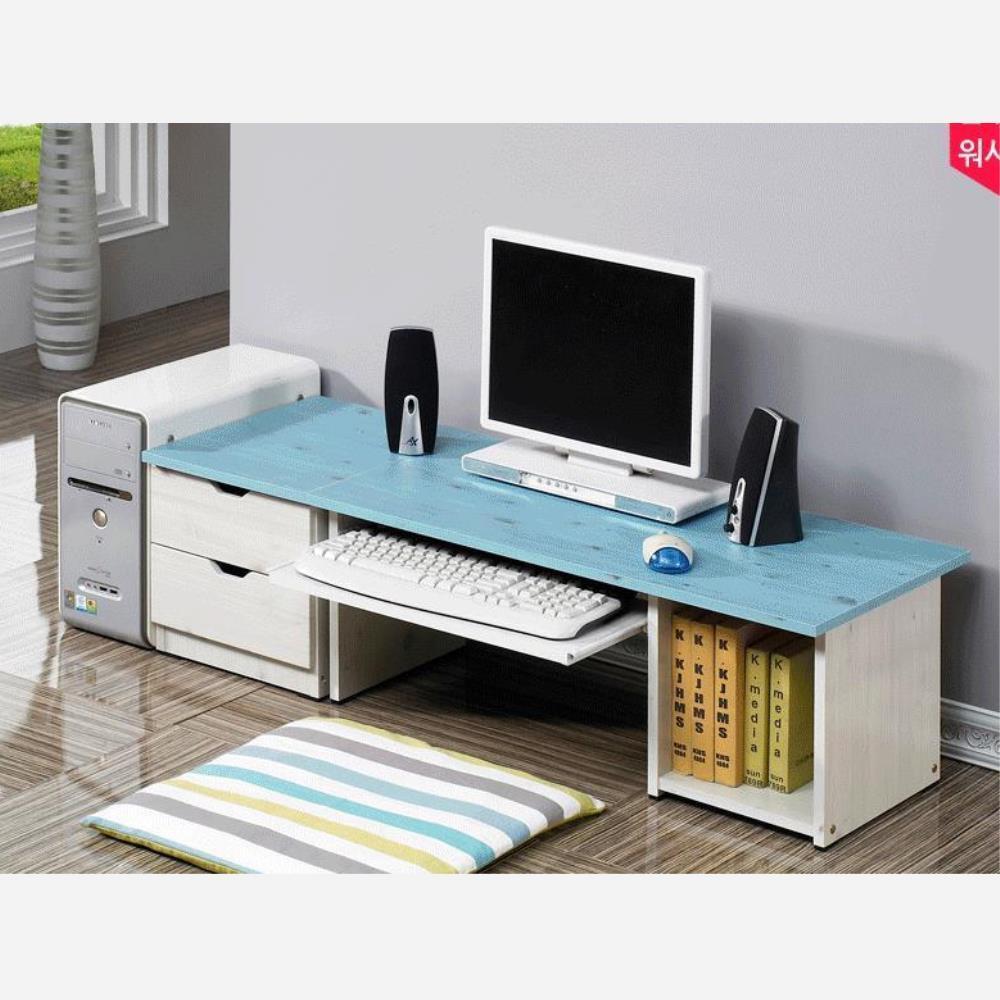 더랜드 어깨아프지 않고 서랍 좌식컴퓨터책상 노트북좌식책상, 802300좌식협탁세트 핑크워시 (390개)