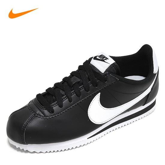나이키 클래식 코르테즈 레더 스니커즈 남성 남자 블랙화이트 807471-010 운동화 신발