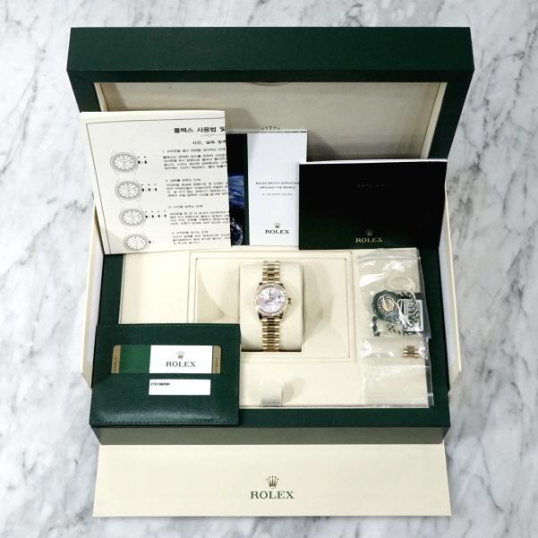 [와이즈럭스]롤렉스 279138 18K골드 금통 데이저스트 다이아몬드 시계 DLW