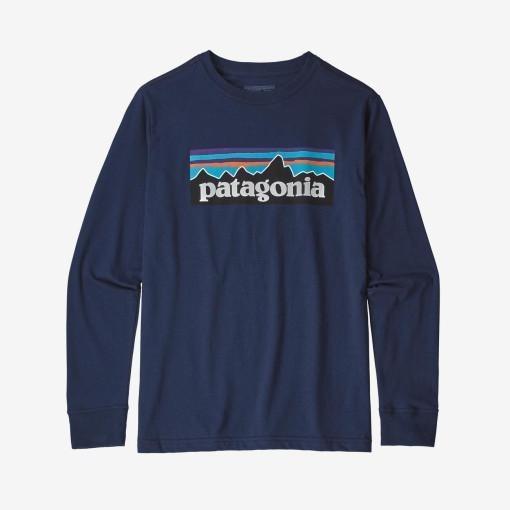 파타고니아 남녀공용 보이즈 오가닉 코튼 그래픽 긴팔 티셔츠 (6컬러)