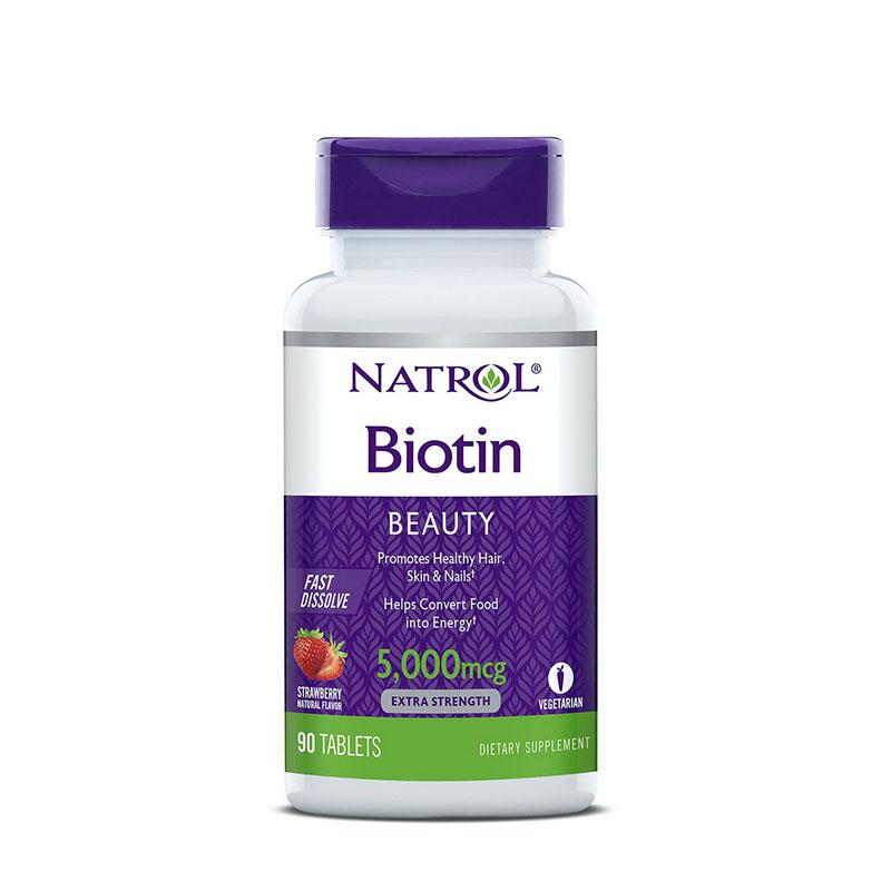 나트롤 비오틴 비오틴효과 5000mcg 90정 딸기 2팩