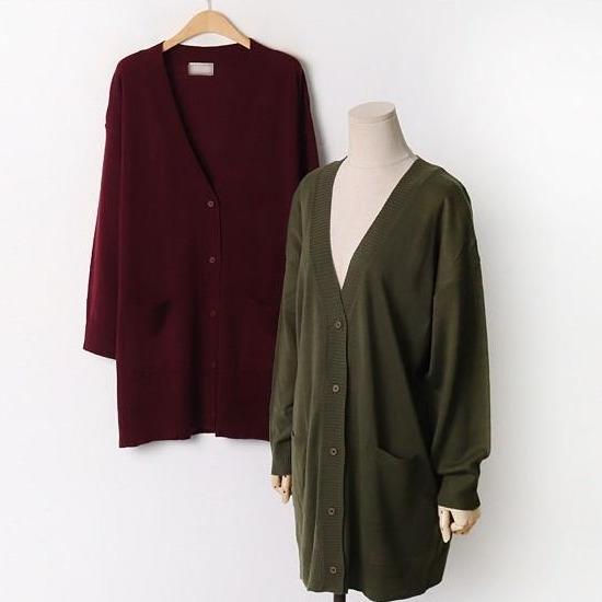 유니퍼스트 봄옷 가을 옷 베이직 여성의류 5만원대 선물 딥와이넥 롱가디건 빅사이즈 E-1566719
